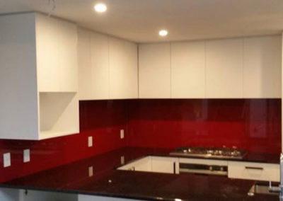 Red Kitchen Glass Splashback